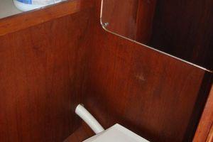 37' C&C 37/40 Wing Keel (Model 37R) 1990 Manual marine toilet