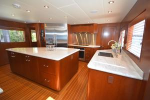 114' Hatteras Raised Pilothouse My 1996 Galley