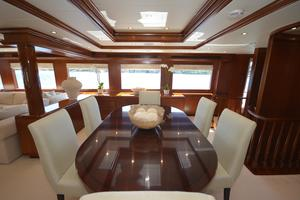 114' Hatteras Raised Pilothouse My 1996 Formal Dining Salon