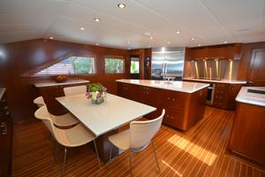 114' Hatteras Raised Pilothouse My 1996 Galley / Dinette