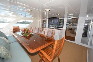 114' Hatteras Raised Pilothouse MY 1996 Aft Deck
