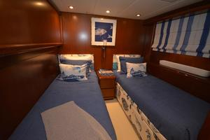 114' Hatteras Raised Pilothouse My 1996 Twin Guest Stateroom