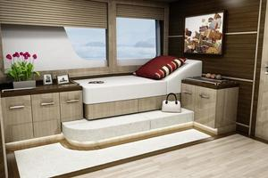 103' Custom Explorer 2021 Master window lounge/day bed