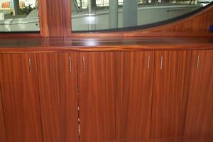 68' Hatteras 68gt 2009 Salon TV Cabinet Closed
