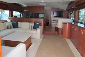 68' Hatteras 68gt 2009 Salon Galley Forward View