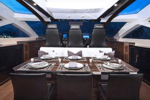 87' Cheoy Lee Alpha Express Sportbridge 2014 Dining