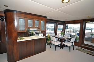 118' Broward Raised Pilothouse My 1995 Main Salon, Wet Bar