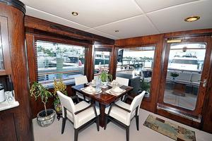 118' Broward Raised Pilothouse My 1995 Dining Area, Stbd