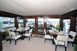 118' Broward Raised Pilothouse My 1995 Main Salon/Dining, Aft