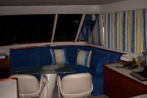 80' Broward Raised Pilothouse 1980 Aft Salon Port