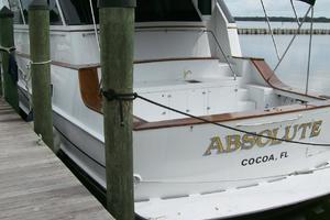 80' Broward Raised Pilothouse 1980 Beautiful Teak Trim