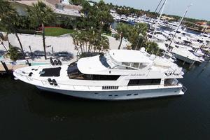 85' Pacific Mariner Flushdeck My 2007 Overhead Profile
