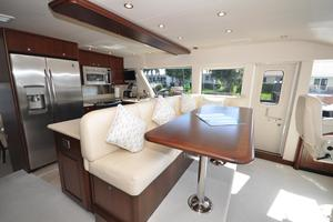 85' Pacific Mariner Flushdeck My 2007 Galley / Pilothouse Dinette