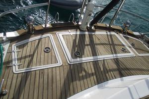 60' Gulfstar Mark 1 1982 Aft deck with large storage compartments