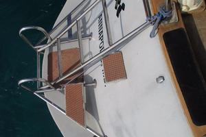 60' Gulfstar Mark 1 1982 Custom stern swim ladder