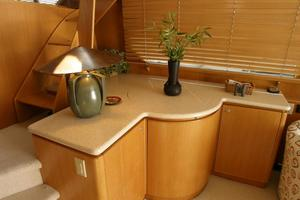 58' West Bay SonShip 58 1998 Salon Cabinetry Stbd Side Fwd