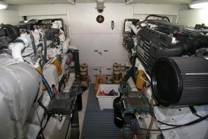 58' West Bay SonShip 58 1998 Engine Room - View Forward