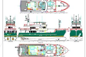 95' Explorer Expedition Yacht 2005 Layout