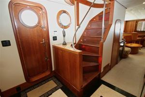 95' Explorer Expedition Yacht 2005 Stairs to upper deck