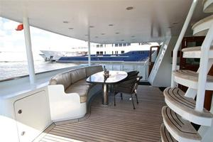 95' Explorer Expedition Yacht 2005 Aft Deck