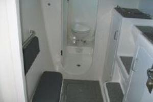 50' Voyage 500 2010 Port fwd cabin seat and ensuite head