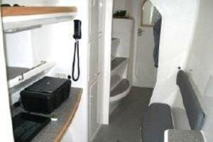 50' Voyage 500 2010 Midship office in stbd hull