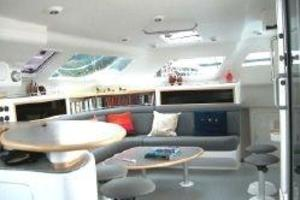 50' Voyage 500 2010 Salon from galley