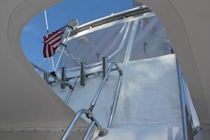 41' Hatteras 41 Sportfish 1994 41 Custom Michael Fitz Sportfish convertible flybridge stair