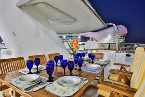 122' CRN 1978/2012 122ft Tri Deck Yacht 1978 SUN DECK DINING
