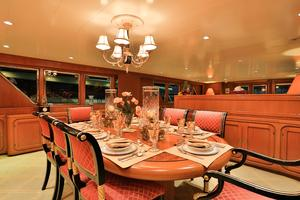 122' CRN 1978/2012 122ft Tri Deck Yacht 1978 DINING ROOM