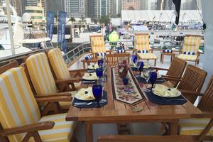 122' CRN 1978/2012 122ft Tri Deck Yacht 1978 ALFRESCO DINING