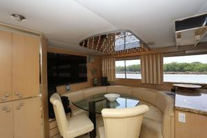 92' Broward Raised Pilothouse Motor Yacht 1988 Galley settee III