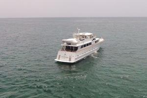92' Broward Raised Pilothouse Motor Yacht 1988 Stern overhead