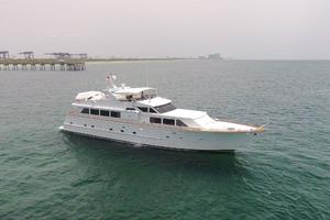 92' Broward Raised Pilothouse Motor Yacht 1988 Profile