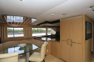92' Broward Raised Pilothouse Motor Yacht 1988 Galley settee