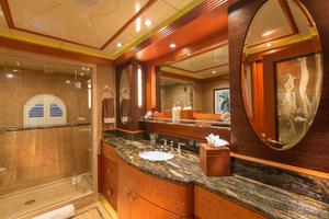 190' Trinity Yachts Motor Yacht 2010 Master Bathroom - His