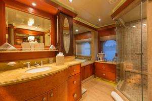 190' Trinity Yachts Motor Yacht 2010 Master Bathroom - Hers