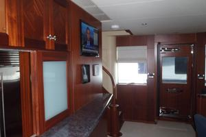 90' Ocean Alexander Sky Lounge 2013 Midship Passageway to Port