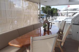 90' Ocean Alexander Sky Lounge 2013 Aft Main Deck