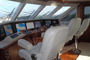90' Ocean Alexander Sky Lounge 2013 Skylounge Helm Station