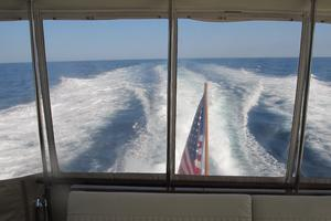 70' Hatteras Cpmy 1977 View Underway from Aft Raised Deck