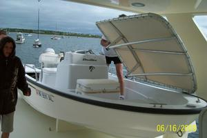 70' Hatteras Cpmy 1977 Tender Stowed on Upper Deck