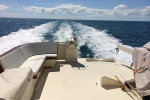 70' Hatteras Cpmy 1977 View Aft from Flybridge Underway