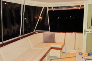 70' Hatteras Cpmy 1977 Raised Aft Deck at Night