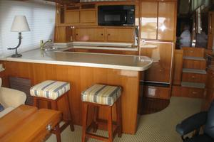 52' Symbol 50 2002 The galley as seen from the main salon