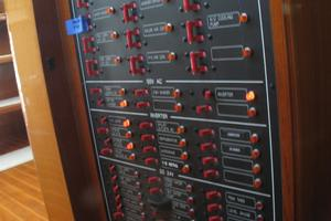 52' Symbol 50 2002 Electrical panel in pilothouse
