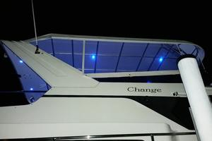 52' Symbol 50 2002 Custom bimini with blue night lights