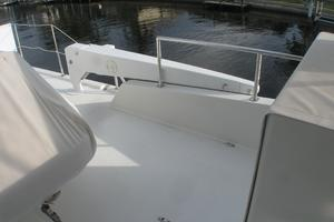 52' Symbol 50 2002 Brower electric boom on flybridge for launching dinghy
