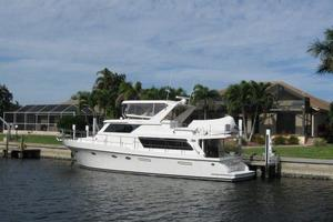 52' Symbol 50 2002 Aft view with Novurania CC dinghy on flybridge