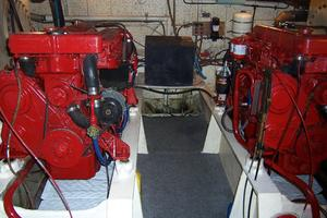 40' Cheoy Lee LRC 1979 40 Cheoy Lee Engine Room